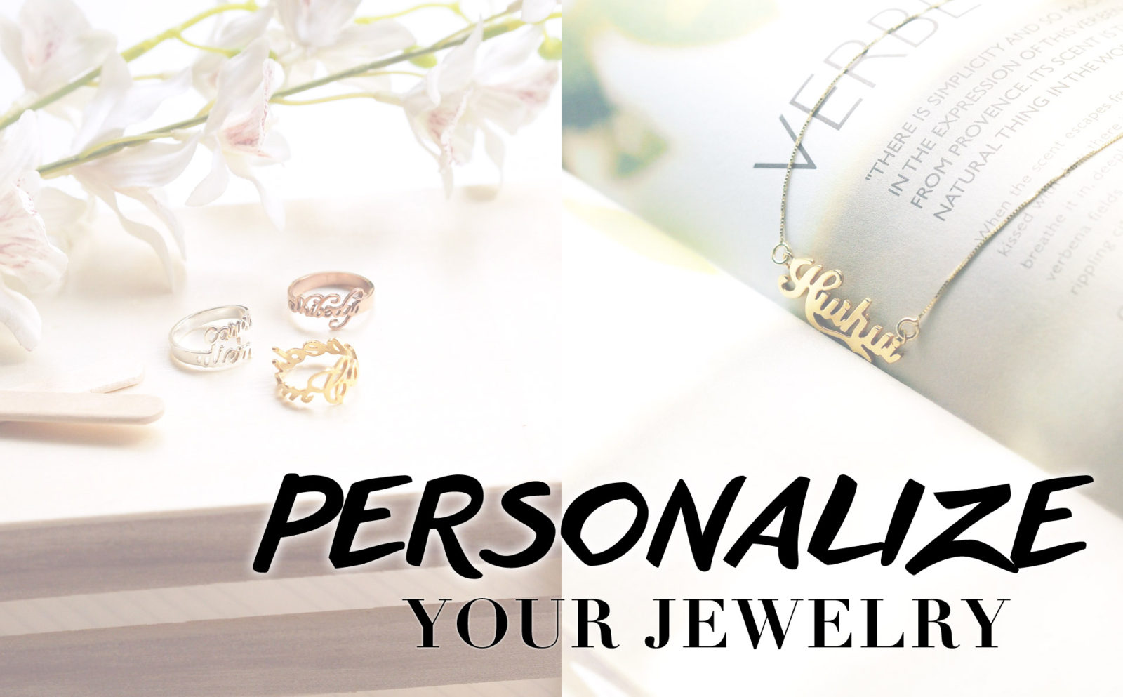 Personalize necklaces, bracelets, cuffs, rings