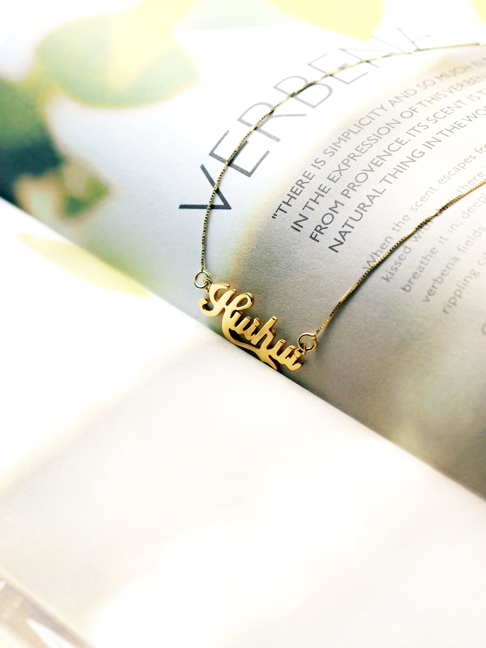Name Necklace With 18k Gold Plating Arva Co
