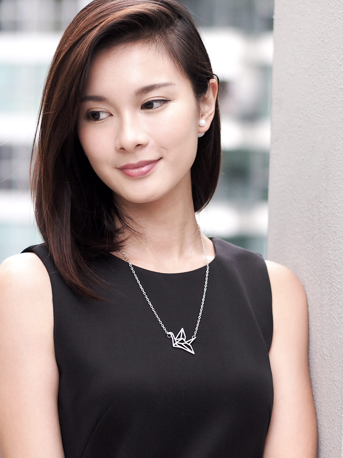 (Back in Stock) Origami Crane Necklace in Silver | Arva.co - photo#43