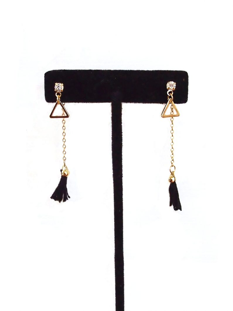ACC570-Tiny-Tassel-Drop-Earrings-in-Black-4