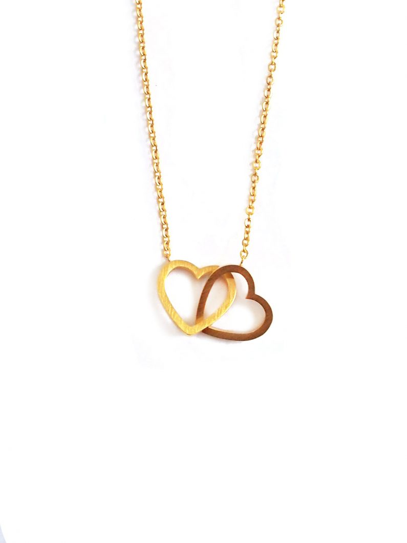 ACC670-(Stainless-Steel)-Entwined-Hearts-Necklace-in-Gold-5