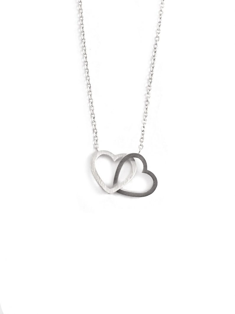 ACC671-(Stainless-Steel)-Entwined-Hearts-Necklace-in-Silver-5