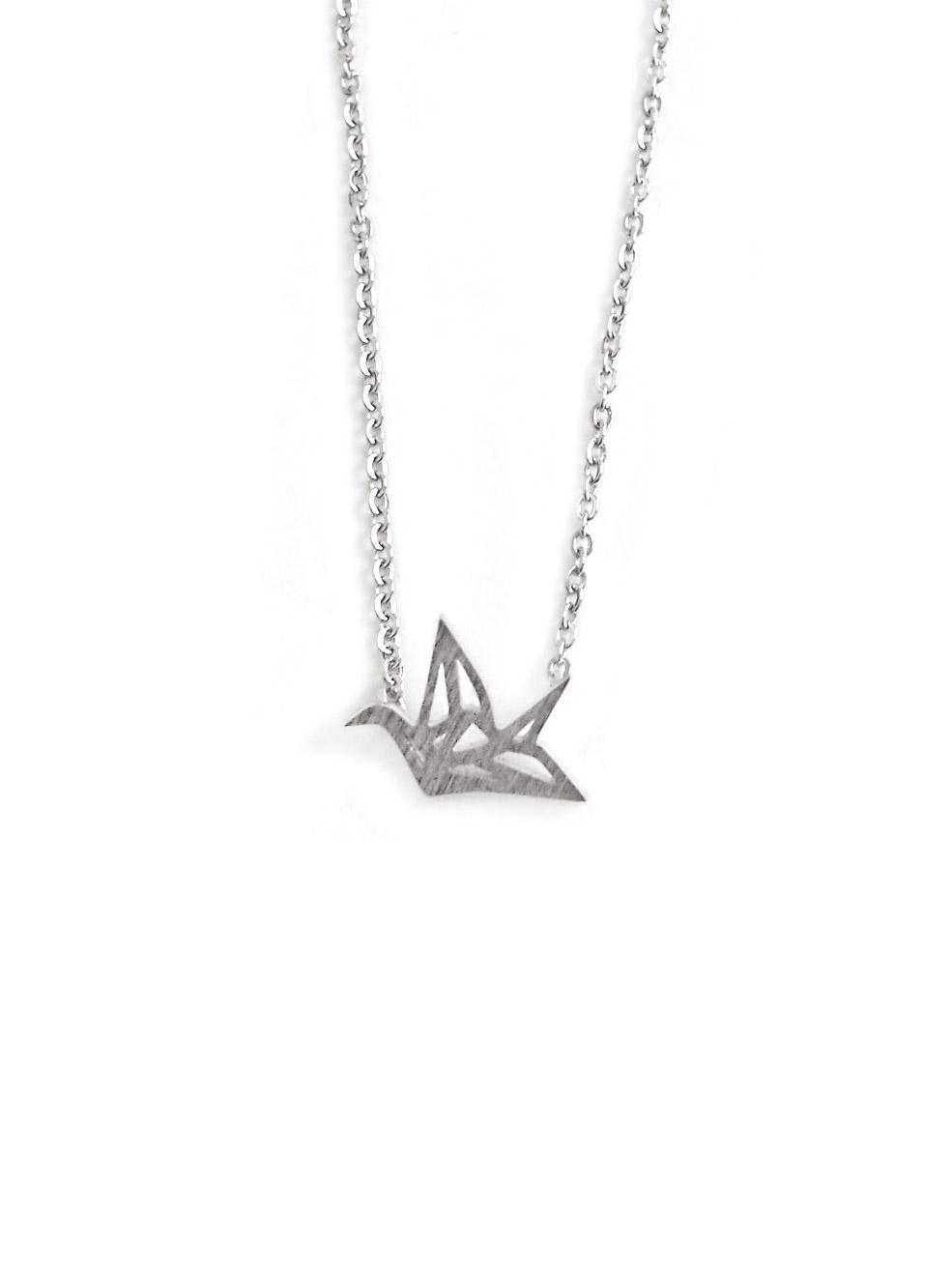 (Back in Stock) (Stainless Steel) Mini Origami Crane Necklace in Silver | Arva.co - photo#12