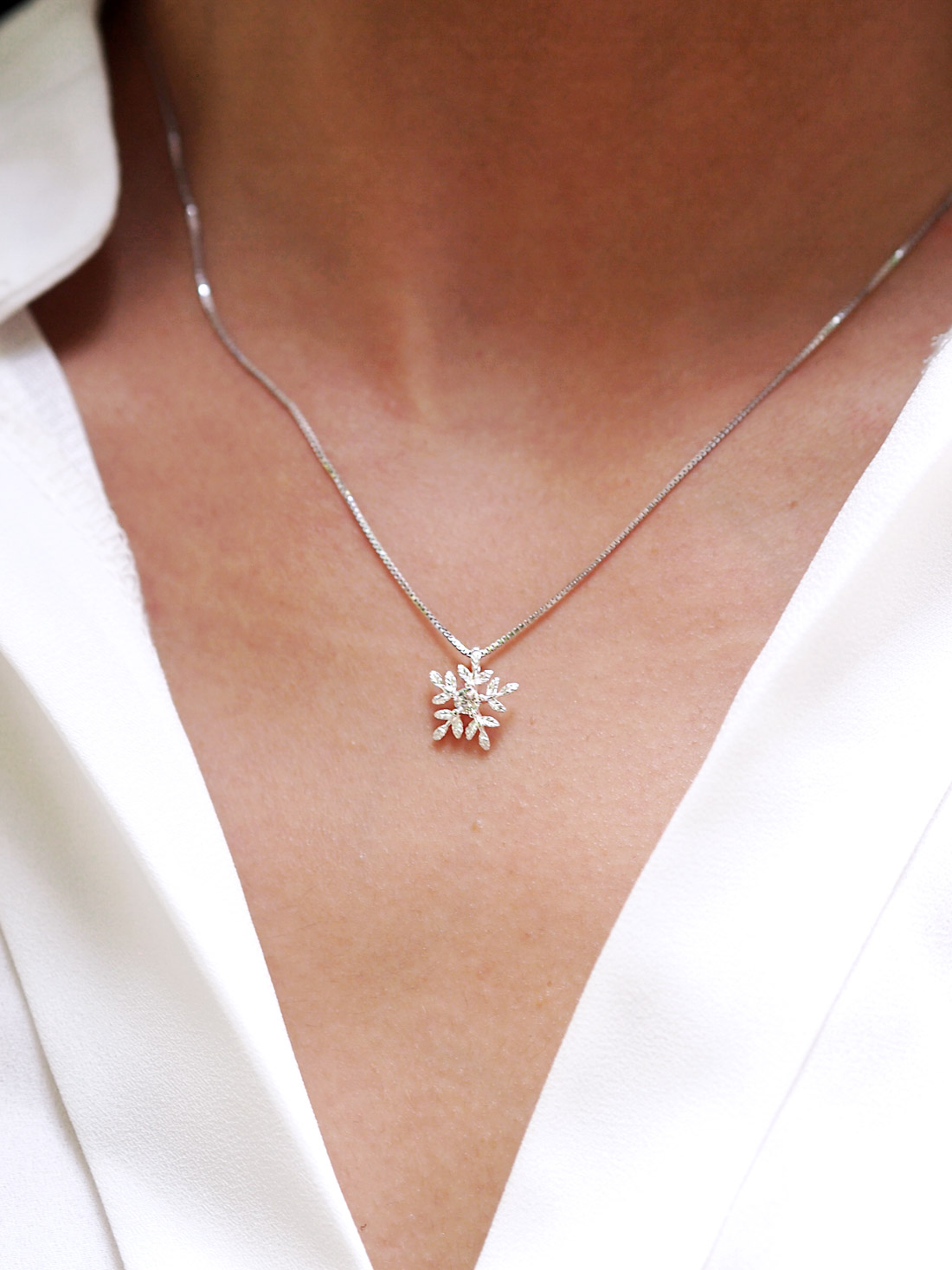 forever products diamond jilco today snowflake by necklace