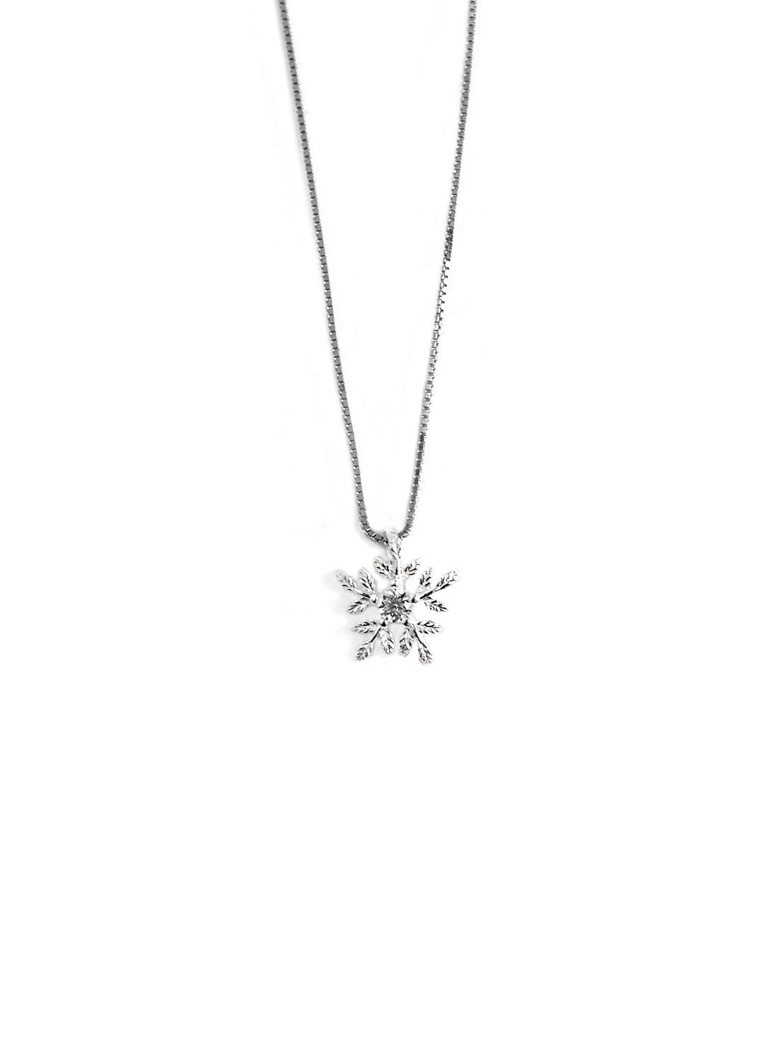 womens snowflake image christmas pendant white winter avanti necklace necklaces gold