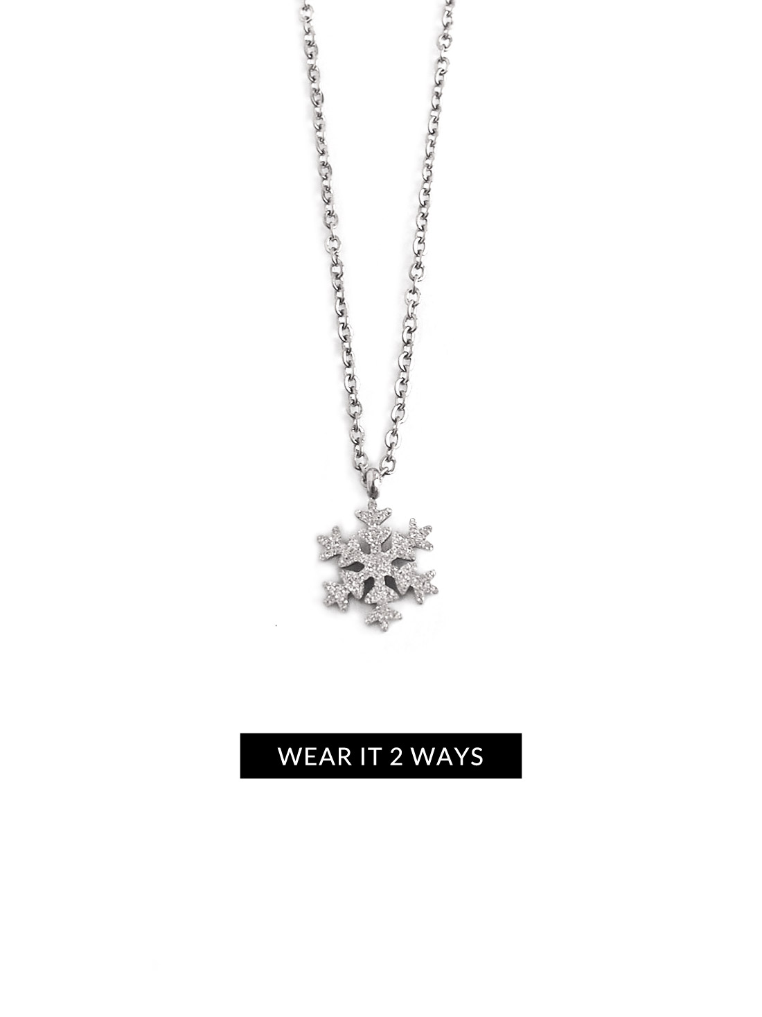 silver necklace season snowflake dogeared tis the sterling