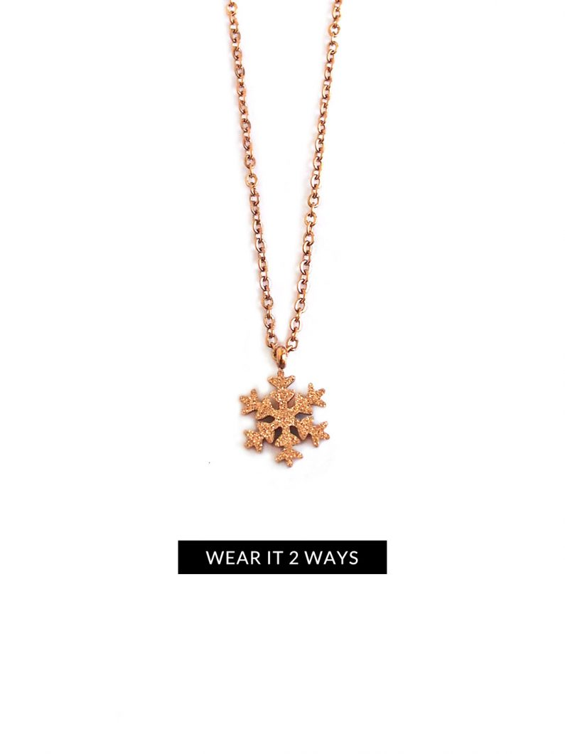 ACC716-(Stainless-Steel)-Glitter-Snowflake-Necklace-in-Rose-Gold-8