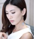 ACC946-Petal-Pearl-Drop-Earrings-in-Grey-3