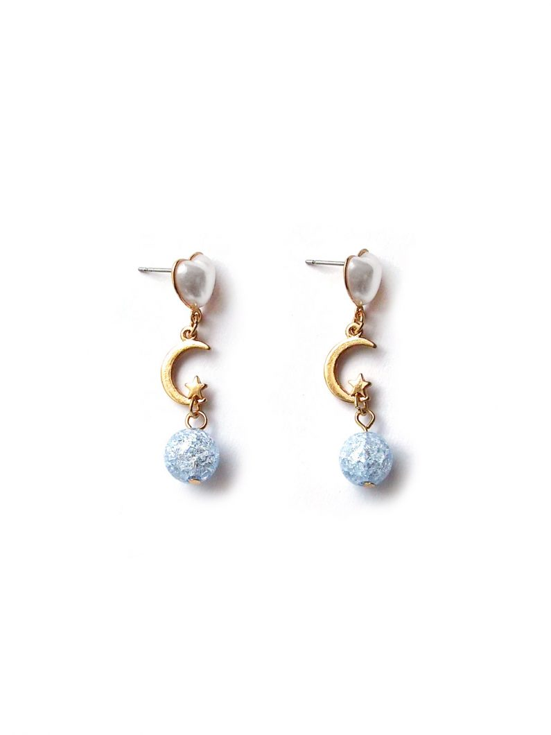 ACC1010-Blue-Crystal-Crescent-Earrings-in-Gold-1
