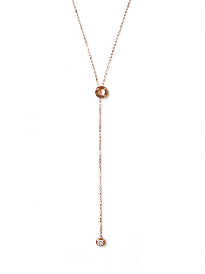 ACC1036-(Stainless-Steel)-Timeless-Crystal-Drop-Necklace-in-Rose-Gold-10