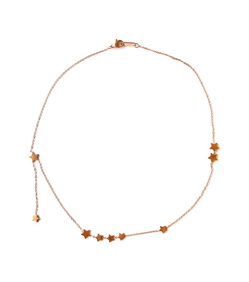 ACC1038-(Stainless-Steel)-Precious-Star-Necklace-in-Rose-Gold-4