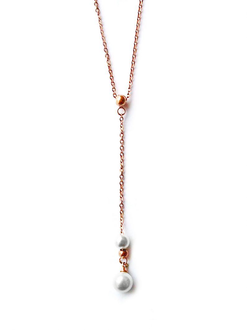ACC1042-(Stainless-Steel)-Covet-Pearl-Drop-Necklace-in-Rose-Gold-6