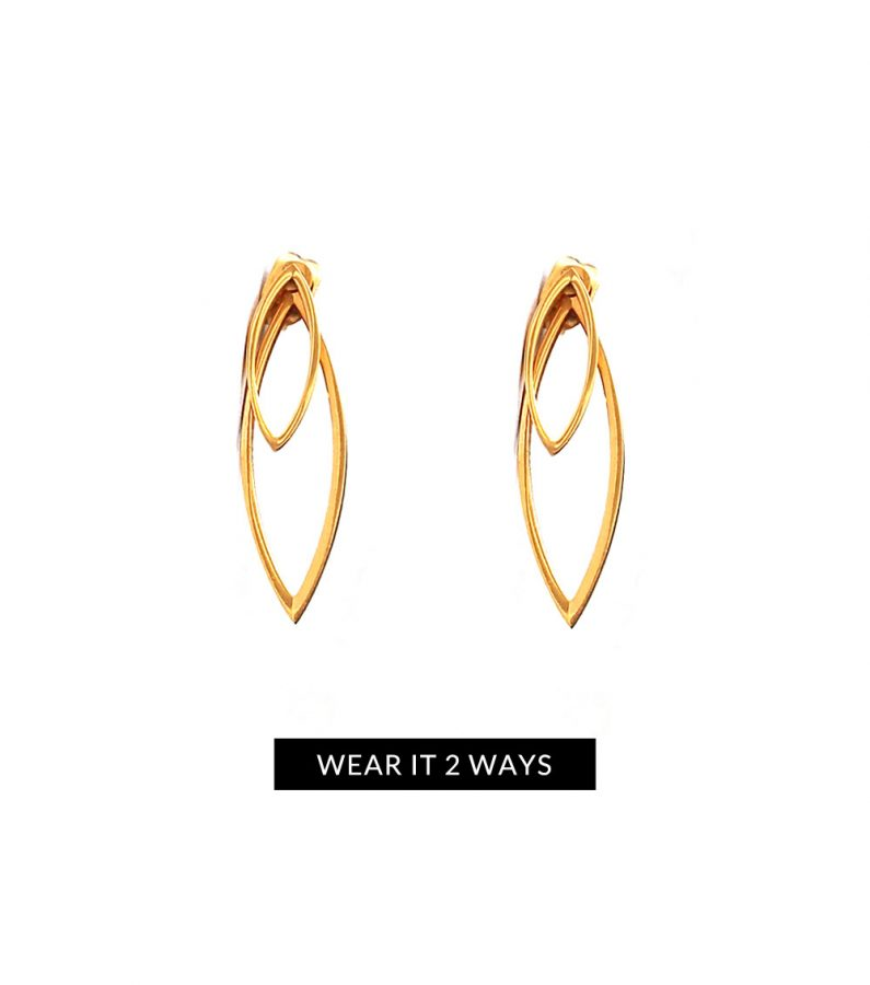 ACC1058-(Stainless-Steel)-Fauna-Earrings-in-Gold-2