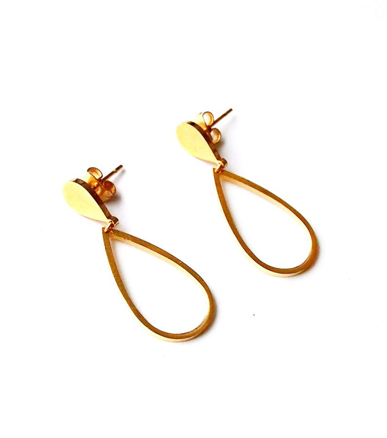 ACC1062-(Stainless-Steel)-Za-Earrings-in-Gold-8