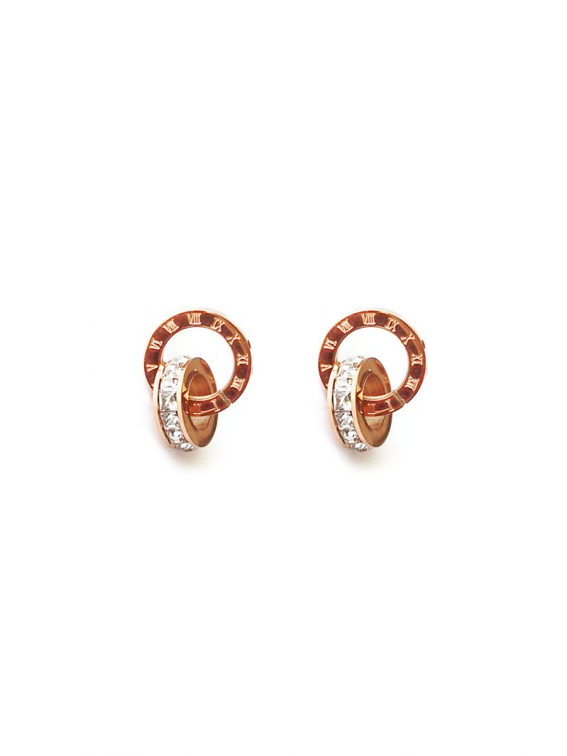 ACC1103-(Stainless-Steel)-Locked-Together-Crystal-Earrings-in-Rose-Gold-5