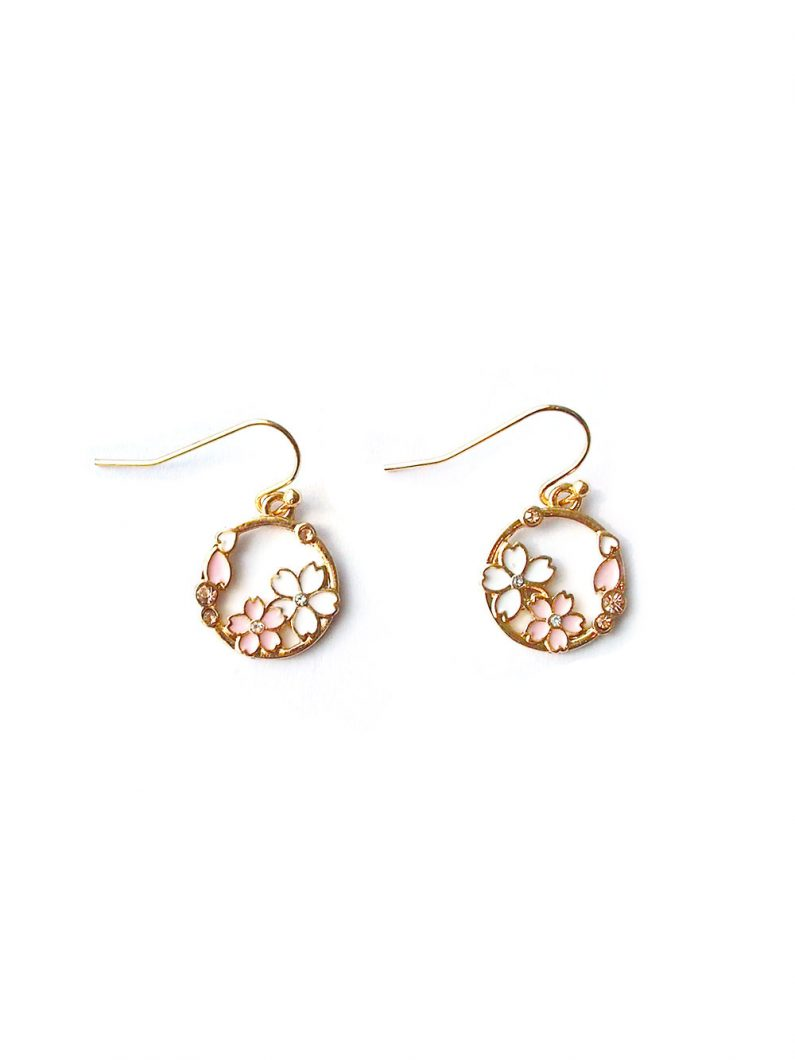 ACC1109-Sakura-Hoop-Earrings-in-Gold-4