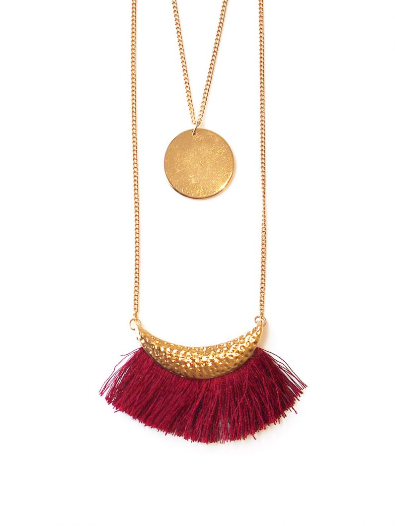 ACC1135-Fringe-Layered-Tassel-Necklace-in-Wine-Red-6