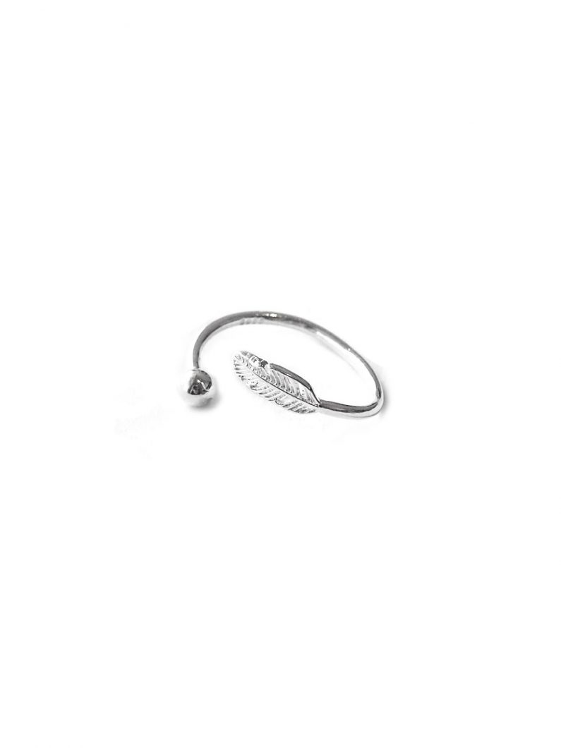 ACC1170-(Premium)-Adjustable-Feather-Ring-in-Silver-3