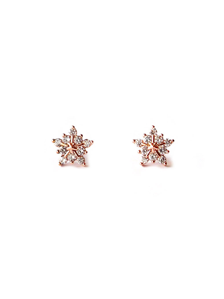 Acc1234 Premium Sparkle Snowflake Ear Studs In