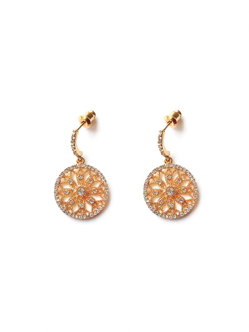 ACC1254-(925-Silver)-Tulle-Crystal-Earrings-in-Gold-7