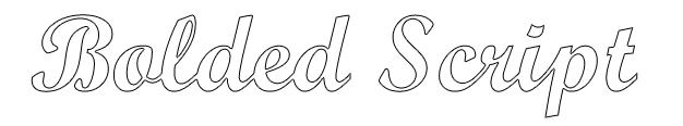 Bolded Script