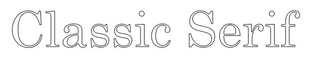 Classic Serif