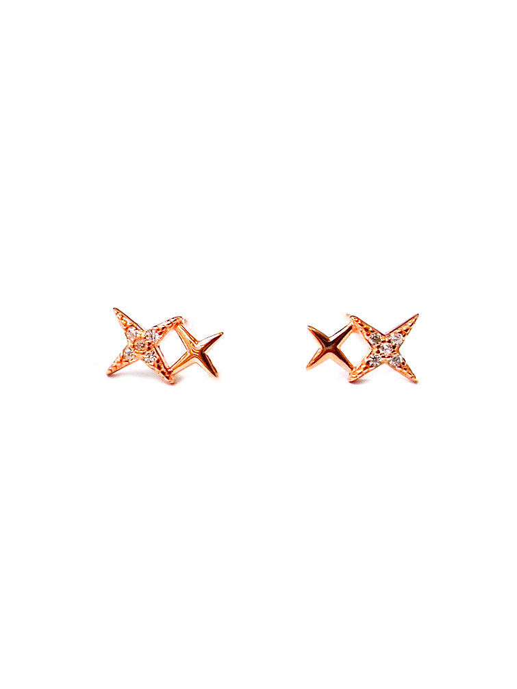 ACC1304-(925-Silver)-Tiny-Starlight-Ear-Studs-in-Rose-Gold-2