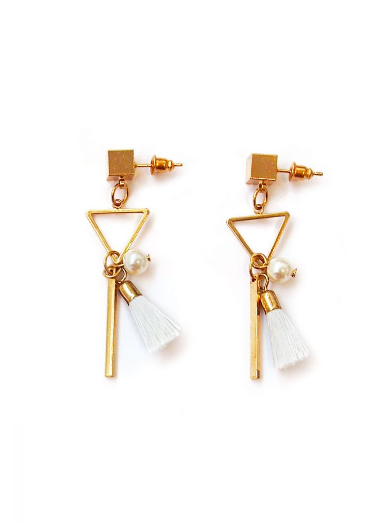 ACC1300-Triangle-Mini-Tassel-Earrings-in-White-5