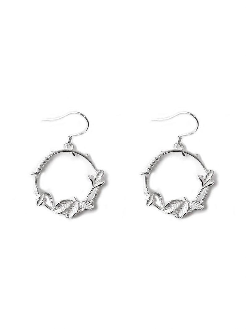 ACC1346-(925-Silver)-Vineyard-Hoop-Earrings-in-Silver-4