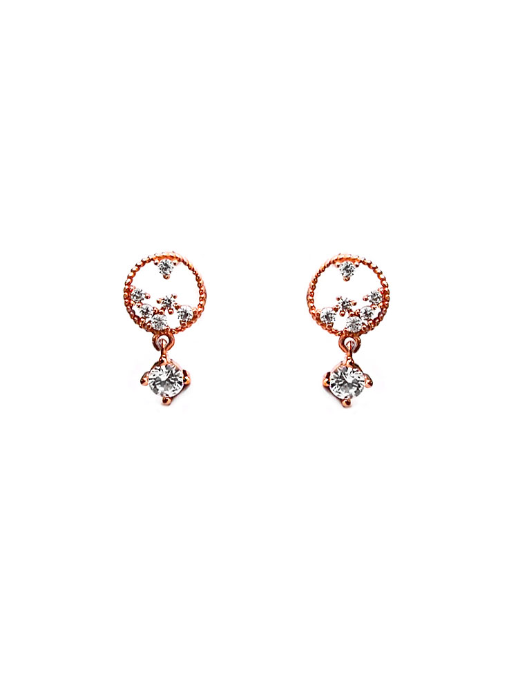 ACC1349-(925-Silver)-Tiny-Pluto-Diamante-Ear-Studs-in-Rose-Gold-6