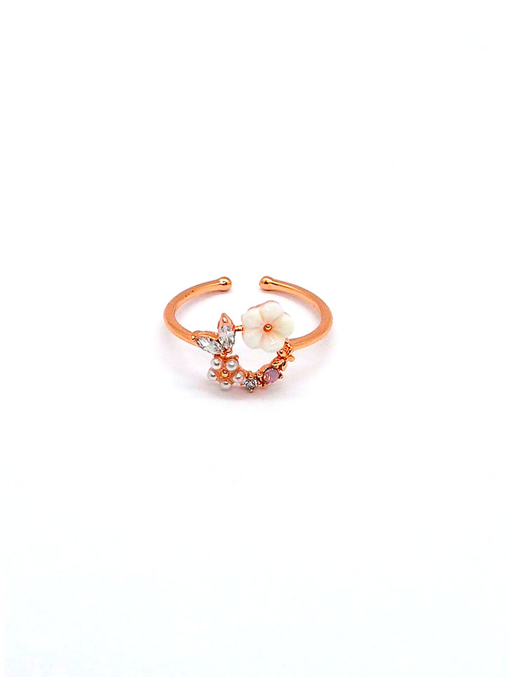 Floral Wreath Ring – Rose Gold