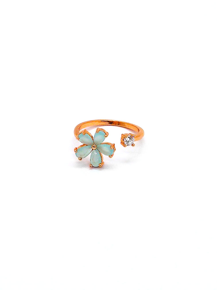 Misty Floral Ring – Rose Gold