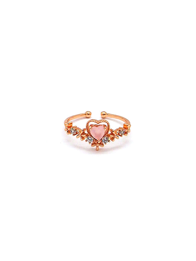 Sophie Heart Ring – Rose Gold
